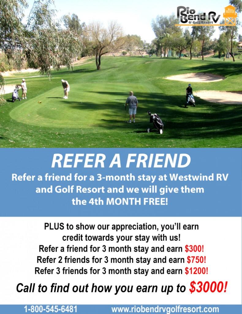 Rio Bend RV & Golf Resort Refer A Friend